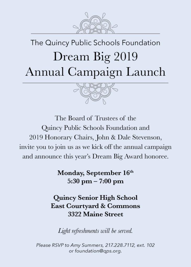 Dream Big Annual Campaign Launch