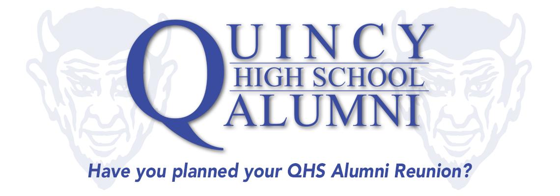 Quincy High School Alumni Header
