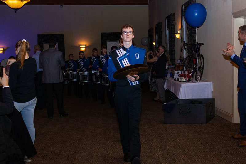 QHS Band Members at Gala Event